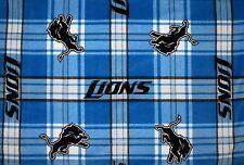 "2-NFL DETROIT LIONS KING PRINTED FLEECE PILLOW CASES/BLACK FLEECE BACK/20""X36"""