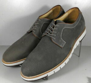 272347 DF50 Men's Shoes Size 10 M Gray Leather Lace Up Johnston & Murphy