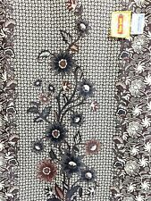 """Batik Halus Sorang Fabric Floral Brown Beige Ukuran Primisima 74"""" W x 43"""" L NWT"""