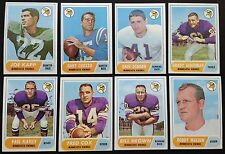 1968 Topps Minnesota Vikings Team Set (8) EXMT to NM w Joe Kapp RC & D Osborn RC