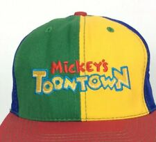 4ab80735553d8 Mickeys Toontown Disneyland Youth Hat Cap Primary Colors Snapback Vtg 80s