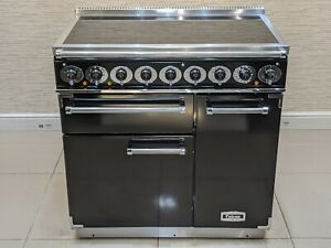 FALCON DELUXE 90CM INDUCTION ALL ELECTRIC RANGE COOKER IN BLACK & CHROME  A651