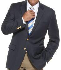 """Ralph Lauren Navy Blue Gold Tone 2 Button Blazer Jacket Men's 44 S. Chest 48"""""""