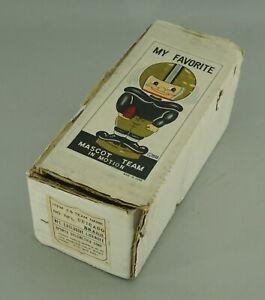 ORIGINAL 1968 CHICAGO BEARS FOOTBALL BOBBLE HEAD NODDER EMPTY DISPLAY BOX (IN02)
