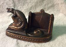 Beautiful Brass Vintage Alligator Calendar . Pat Pend.
