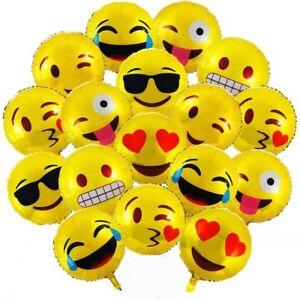Emoji Folienballon Smilie Smiley gelb Luftballon Gesicht happy Ballon Gag Scherz