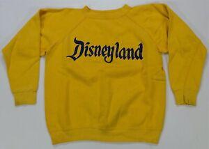 Rare Vintage Walt Disney Disneyland Gussett Crewneck Sweatshirt 60s Yellow Youth