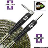 Analysis Plus 10Ft Yellow Oval Guitar/Bass Cable w/ SILENT PLUG - Straight/Angle
