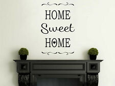 "Vinyl Wall Quote ""Home Sweet Home"", Modern Transfer, Wall Sticker."