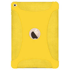 Amzer Soft Silicone Skin Jelly Case Back Cover Fit for Apple iPad Air 2 - Yellow