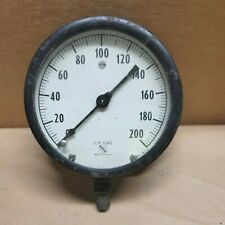 Large 5 Old Vintage Ashcroft Pressure Gauge 0 200 Psi Steampunk Made In The Usa