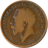 1919 HALF PENNY OF GEORGE V.     #WT4806