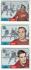 [60528] LOT OF 3 TOPPS 1968-1969 HOCKEY CARDS OAKLAND SEALS HAMPSON, JARRETT