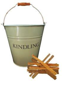 Traditional Metal Kindling Bucket Fireside Wood Log Storage Basket Coal Skuttle