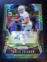 Travis Fulgham RC 2019 Prizm Green Pulsar Rookie Auto RC Philadelphia Eagles!