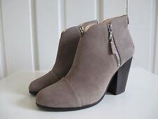 New $ 525 Rag & Bone Margot Suede Ankle Boots bootie Gray 40 10 Harrow
