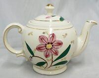 VINTAGE SHAWNEE POTTERY TEA POT WITH FLOWERS DESIGN
