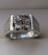 Women's Silver Cubic ZirconiaFour-Stone Ring Stamped Size K-Half Stamped