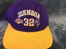 Vintage Los Angeles Lakers Magic Johnson Snapback Hat Cap NBA OSFA AJD