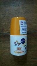 Nivea Kids SPF 50 protect and sensitive roll on sun screen NEW x 2