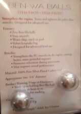 Ben Wa Balls for kegels and tightening
