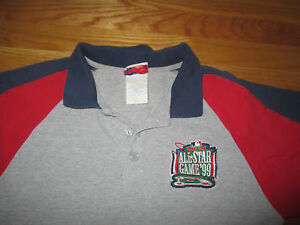 Majestic 1999 All Star BOSTON RED SOX (MED) Polo Shirt w/ Patch PEDRO MARTINEZ