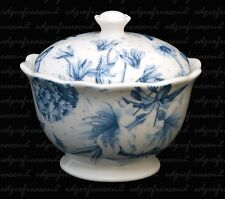 PORTMEIRION BOTANIC BLUE COVERED LIDDED SUGAR POT BOX BOWL