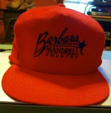 Vintage Trucker Hat Barbara Mandrell Country Music Snapback Baseball Cap Red