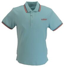 Lambretta Mens Stratosphere/Navy/Orange 100% Cotton Polo Shirts