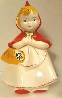 "Vintage Hull Ware ""Little Red Riding Hood"" Cookie Jar #967 Circa 1940's"