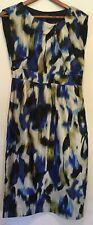 Long Tall Sally Blue Green White Dress Size 10
