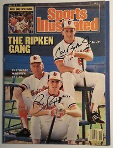 CAL RIPKEN JR Autographed 1987 Sports Illustrated w/Billy HOF Baltimore Orioles
