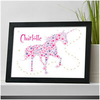 Personalised UNICORN Gifts for Girls Daughter ANY Name Birthday Christmas Gifts