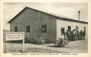 Florida, Clewiston, Receiving Station, US Sugar Corporation Albertype Postcard