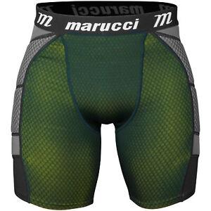 Marucci Elite Men's Padded Baseball/Softball Sliding Short, Black/Optic - Medium