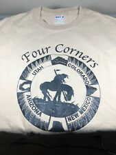 4 Corners Monument Navajo Nation T-Shirt Tee Size Large