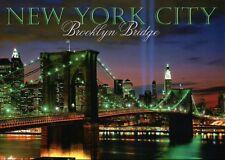 Brooklyn Bridge Lights for World Trade Center New York City Manhattan - Postcard