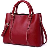 100% Genuine Leather Eleagnt Women's Handbags Sling Shoulder Bag Satchel Tote