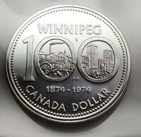 1874- 1974 Winnipeg Canada Centennial dollar