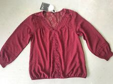 RBX Dotted Swiss Peasant Blouse Boho Top Sz M NWT $68 ANTHROPOLOGIE