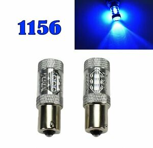 Rear Signal Light 1156 BA15S 7506 3497 1141 P21W 80W Blue LED Bulb M1 GM MA