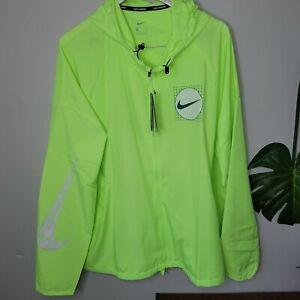 Nike Wild Run Essential Shield Running Jacket Volt Men's Size XXL DA0190-358
