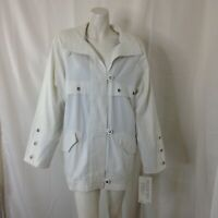 Vintage Mulberry Street Womens White Coat Size Small