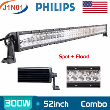 52inch 300W LED Work Light Bar Spot Flood Driving Lamp 12V24V Offroad Philips 54