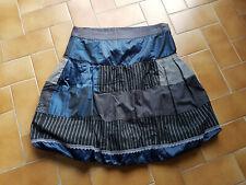 Jupe boule patchwork bleu DESIGUAL Taille 38 TTBE