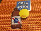 Pabst #P-1565 COLD PABST TO GO sticker wall sign 12 oz bottle 1974 VINTAGE NOS C