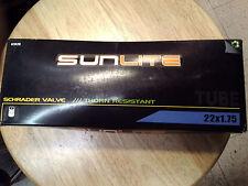 SUNLITE 22 X 1.75  Schrader Valve - THORN RESISTANT. Triple Thick INNER TUBE