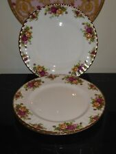 """ROYAL ALBERT OLD COUNTRY ROSE 10.5"""" DINNER PLATES SET OF 3"""