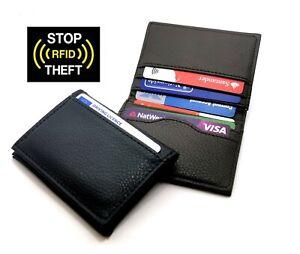 Slim  RFID Blocking Credit Card Holder, Holds up to 8 Card & Bank Notes Slot