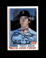 John Tudor Signed 1982 Topps Boston Red Sox Autograph